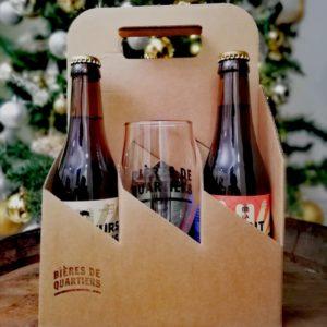 Pack de bières artisanales et un verre gratuit
