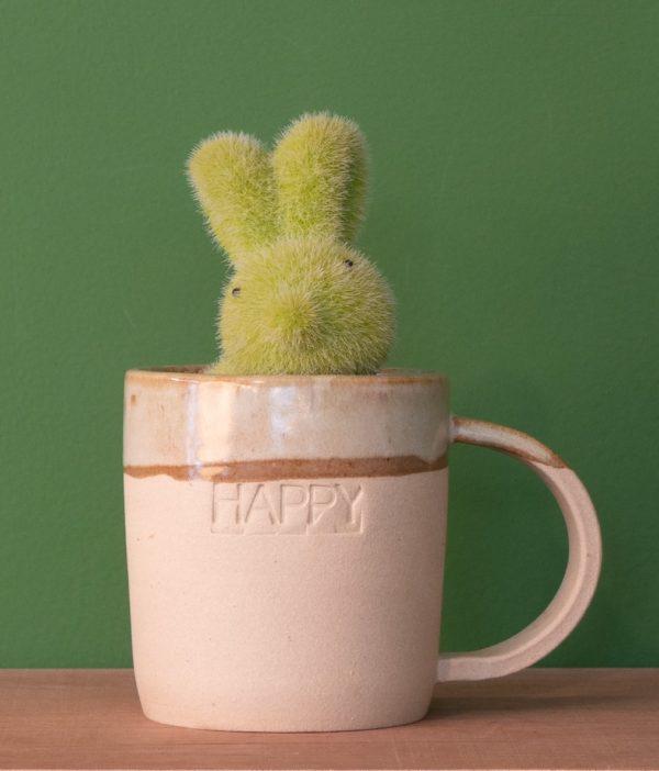 Tasse mugs avec inscription Happy faite à la main